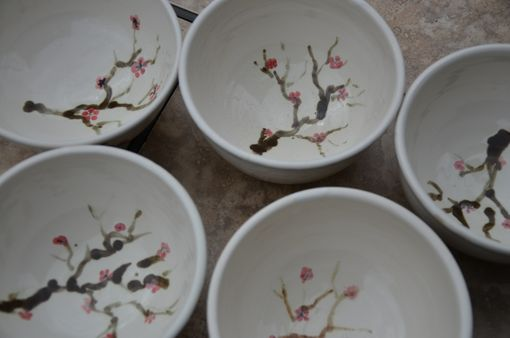 Custom Made Pots With Cherry Blossoms