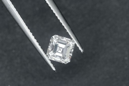 Custom Made Custom Engagement Ring With 1ct Asscher Cut Diamond - Gia