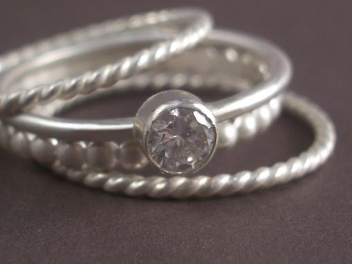 Custom Made Cz Set Of Stacking Rings