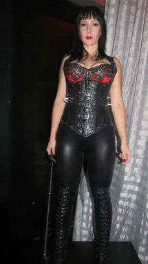 Custom Made Leather Underbust Halter With Studs And Buckles 002