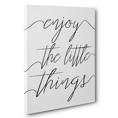 Custom Made Enjoy The Little Things Canvas Wall Art