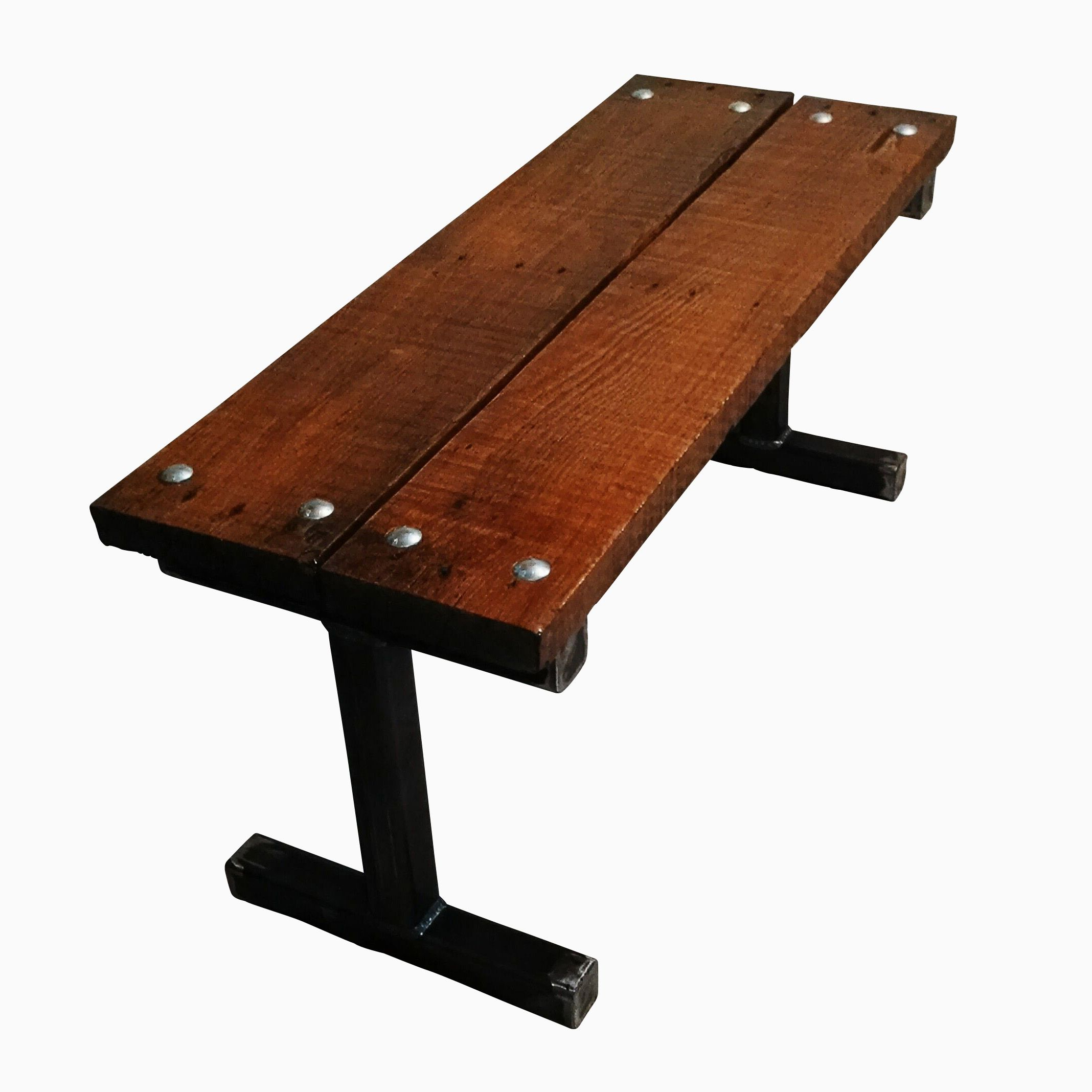 Buy A Handmade Reclaimed Pallet Wood Bench With Carriage Bolts Frame Made To Order From