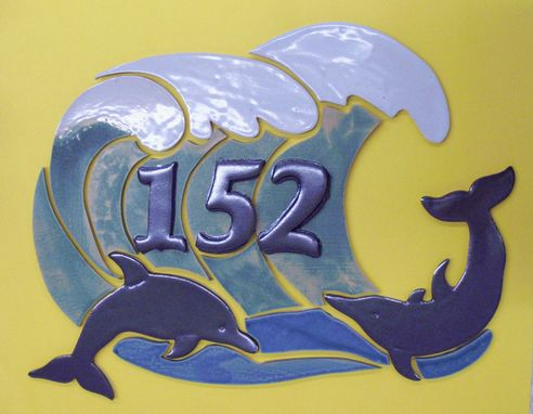 Custom Made Dolphin Address Tiles