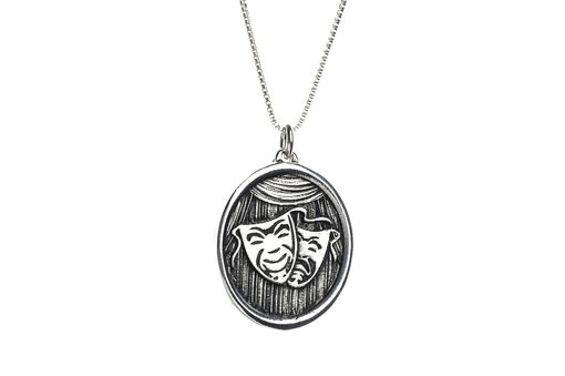 Custom Made Comedy Tragedy Faces Drama Theater Necklace
