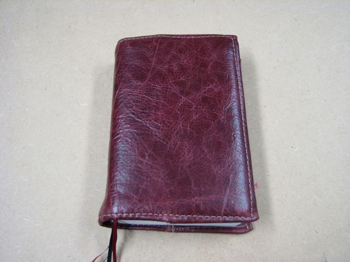 Custom Made Red Leather Book Cover