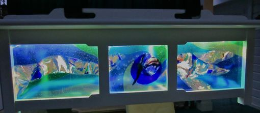Custom Made Fused Glass Light Panels - Kailua Outdoor Lanai Light Fixture