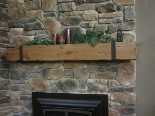 Buy Handmade Knotty Alder Beam Mantel With Thick Hand