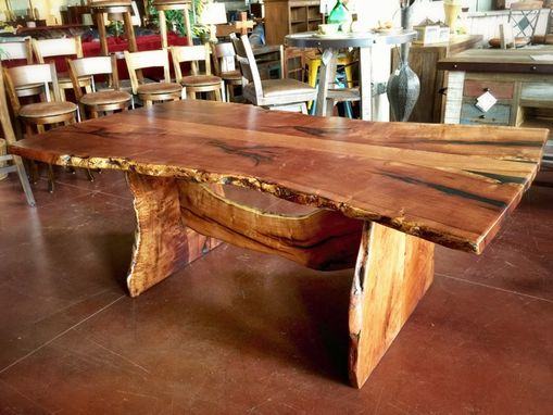 Custom Made Slab Live Edge Mesquite Rustic Dining Table 2