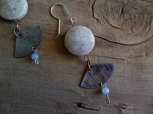 Custom Made Fossil Coral Bead Earrings