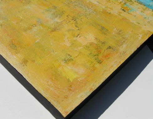 Custom Made Yellow Abstract Original Acrylic Painting On Canvas