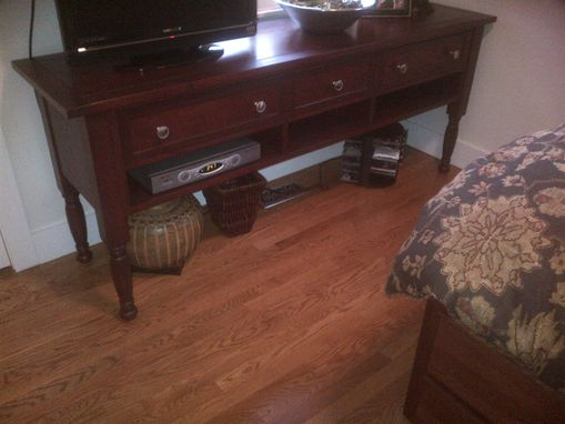 Custom Made Cherry Console Table
