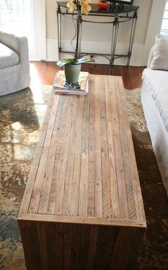 Custom Made The Jackson Table-Modern Yet Rustic Coffee Table Made From Reclaimed New Orleans Homes