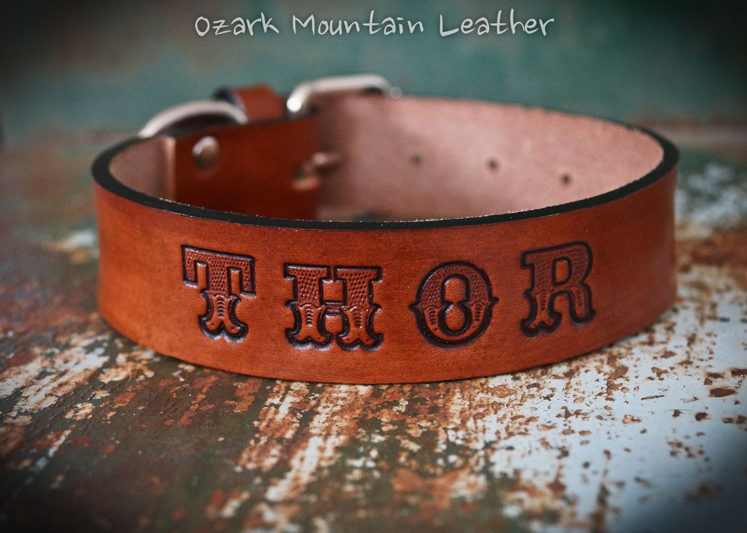 803f589f7cc9 Buy Hand Crafted Leather Dog Collar With Custom Name And Address ...