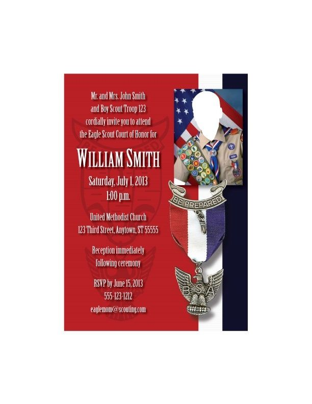 Hand Made Custom Eagle Scout Court Of Honor Invitations By Paul