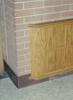 Custom Made Oak Wainscote Paneling
