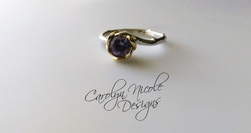 Custom Made Flower Engagement Ring