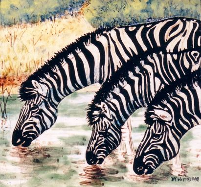 Custom Made Zebras (Tile)