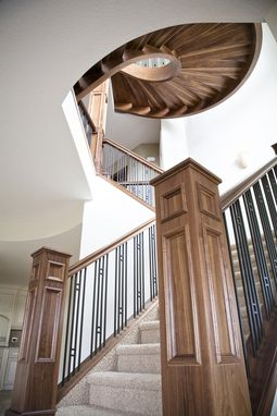 Custom Made Curved Walnut Staircase