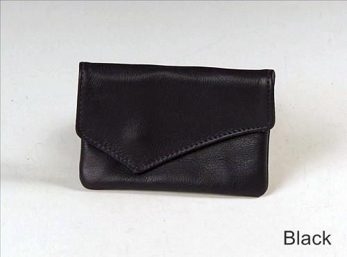Custom Made Small Clutch Wallet, Black Leather