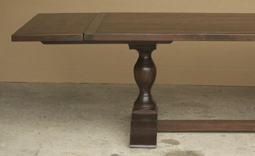 Custom Made Walnut Trestle Table With Custom Legs