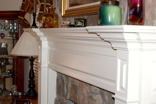 Custom Made Painted Fireplace Surround