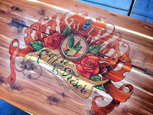 Custom Made Custom Pyrography Art On Wood