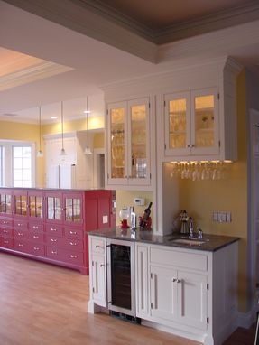 Custom Made Red & White Kitchen