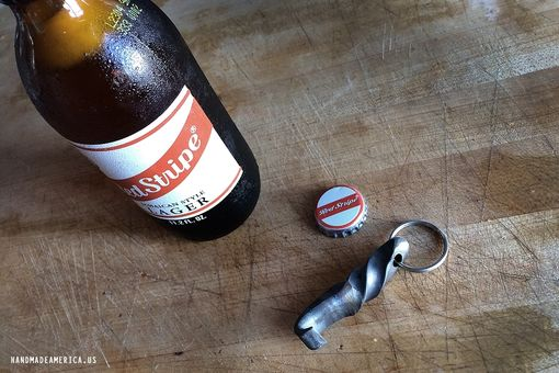 Custom Made Twisted Steel Bottle Opener