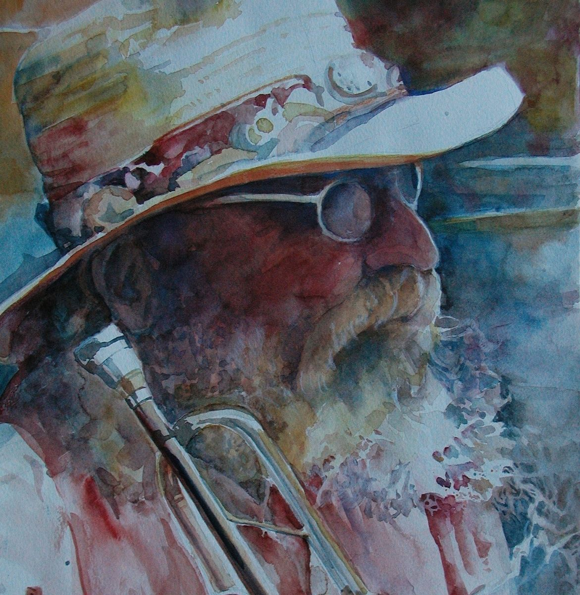 Hand Made Portrait Painting Of Quot Old Man With Beard