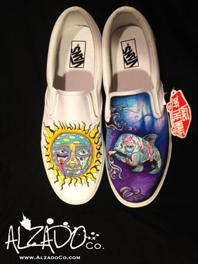 Custom Made Hand Drawn Sublime Custom Shoes