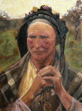 Custom Made Master Study, Head Of A Peasant Woman - Fine Art