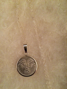 Custom Made Medallion Pendant In Sterling Silver