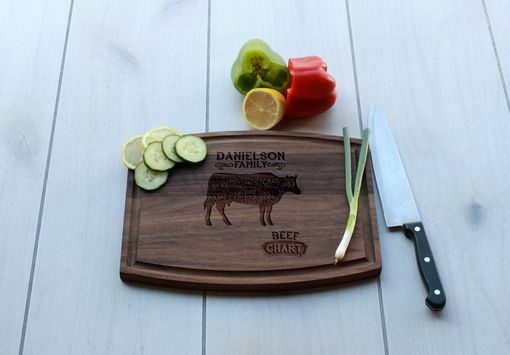 Custom Made Personalized Cutting Board, Cutting Board, Wedding Gift – Cba-Wal-Danielson Family Beef Chart