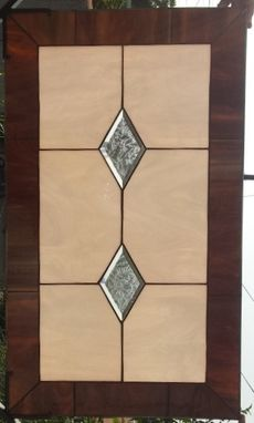 "Custom Made Stained Glass Cabinet Inserts - ""Champagne & Diamonds"" (Ci-15)"