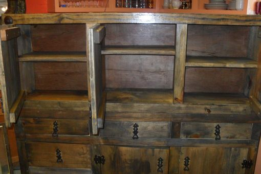 Custom Made Rustic Kitchen Cabinets