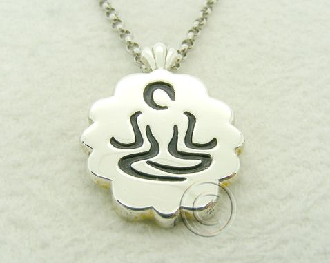 Custom Made Yoga Meditaion Pose Pendant