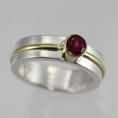 Custom Made 1 Stone Wrap Ring,Lrg. 14k 5mm (Ruby) Size 7.5