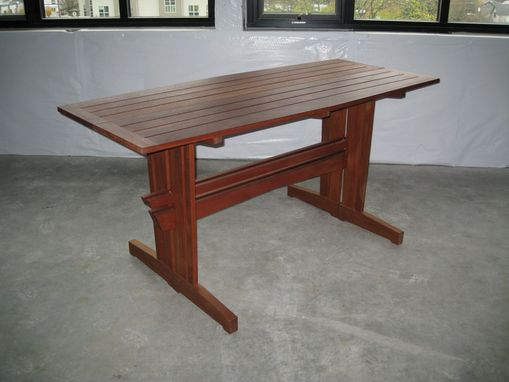 Custom Made Meridian Meranti Outdoor Bar Table