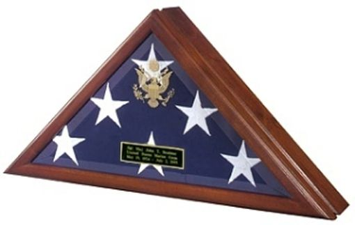 Custom Made Flag Display Case With Front Openning