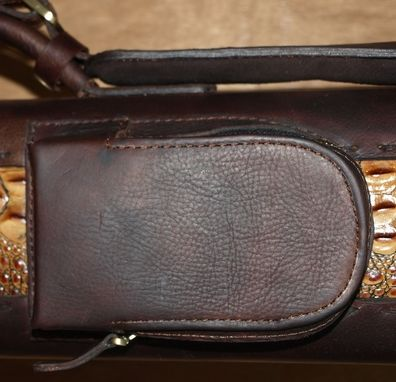 Custom Made Tl36otag - Leather Poolstick Case