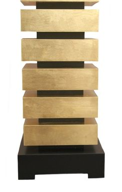 Custom Made 23k Gold Leaf Sectional Table Lamp