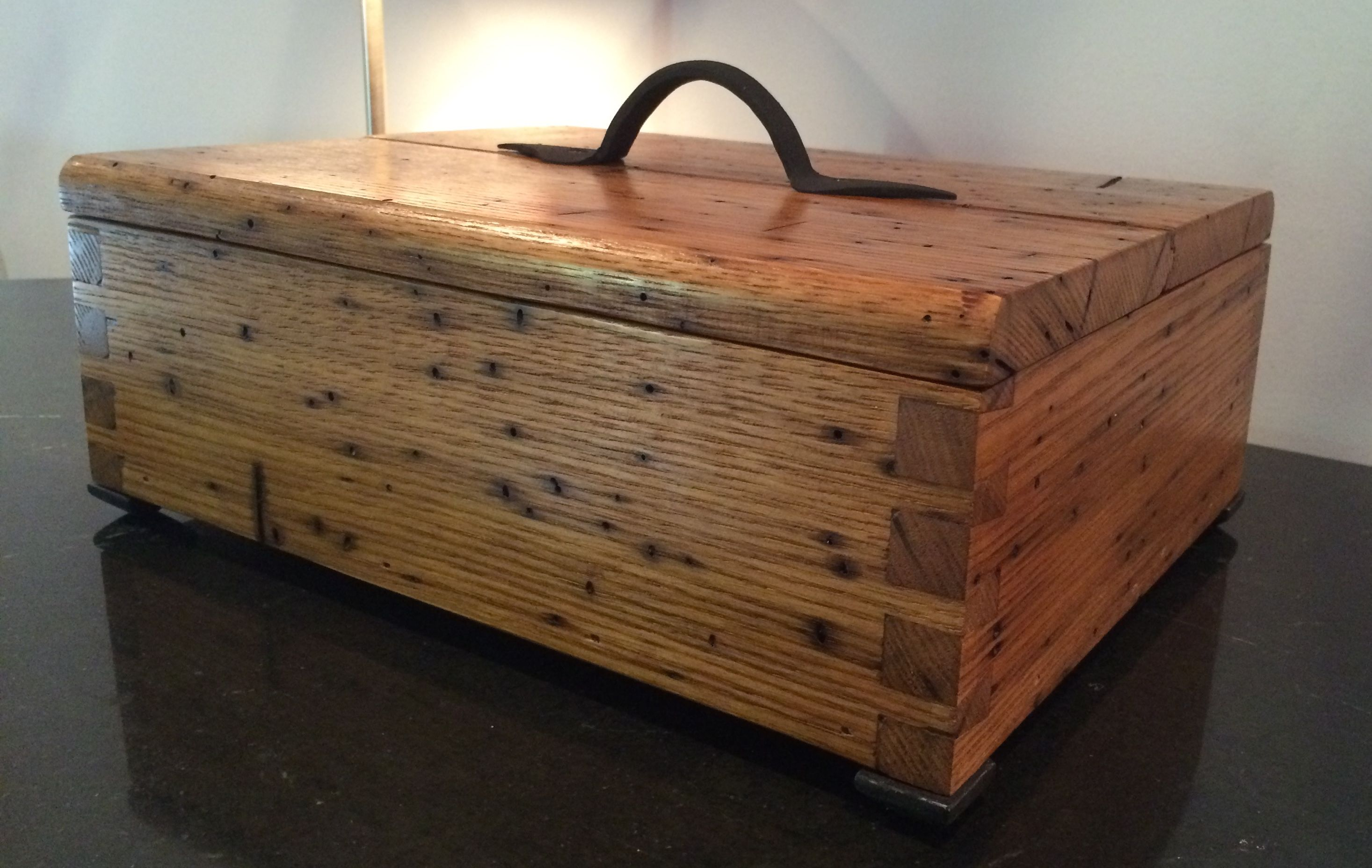 Custom Made Reclaimed American Wormy Chestnut Box By