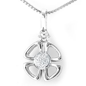 Custom Made Clover Leaf Diamond Pendant