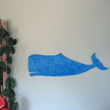 Custom Made Handmade Upcycled Metal Whale Wall Art Sculpture