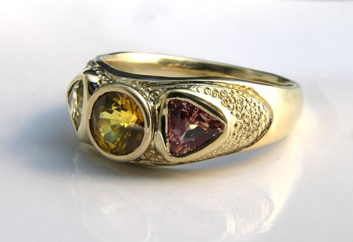 Custom Made Men's Custom Yellow Sapphire Ring 14k Gold