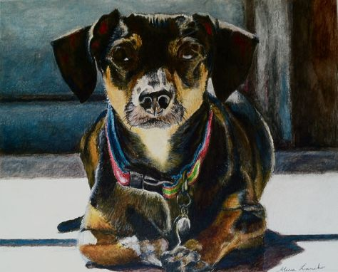 "Custom Made Custom Pet Portrait - ""Bandit"""