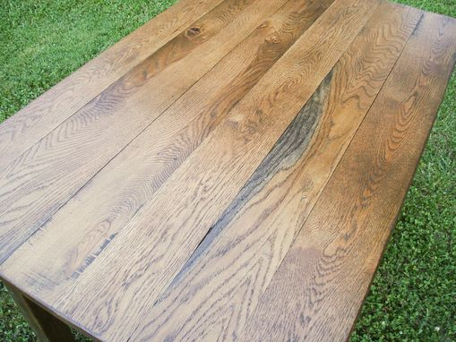 Custom Made Reclaimed Oak Farm Table