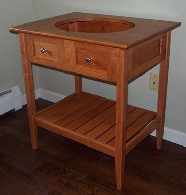 Custom Made Shaker Open Style Bathroom Vanity