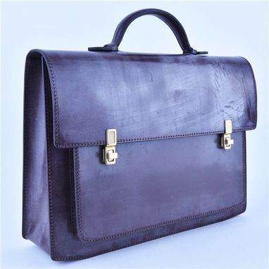 Custom Made Handmade British Horse Bridle Leather Elegant Briefcase  Female Models