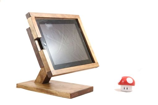 Custom Made Woodwarmth Four Sided Horizontal Tablet & Ipad Stand